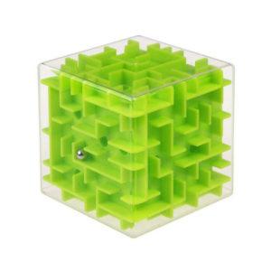 3d ball maze cube | Green