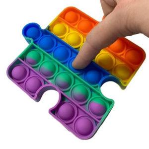 Fun puzzle silicone multifunction game | Rainbow