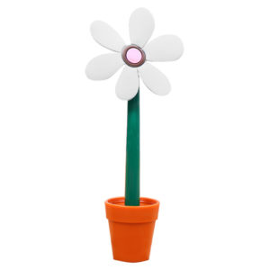 Flower pen with its pot | White