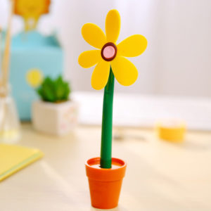 Flower pen with its pot | Yellow