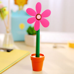 Flower pen with its pot | Pink